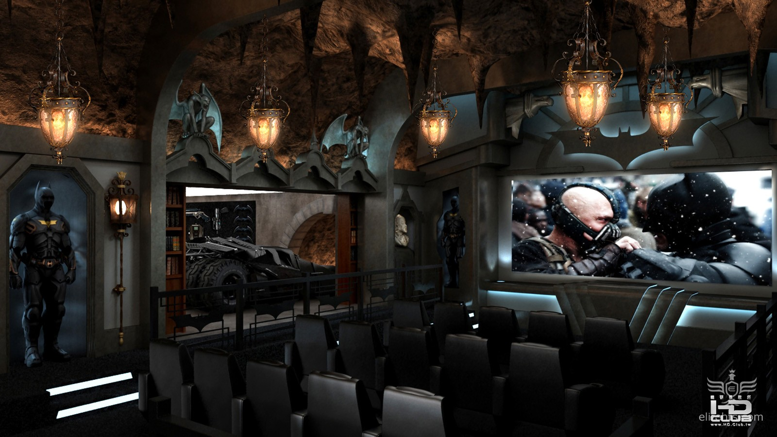 2-1_batcave home theater