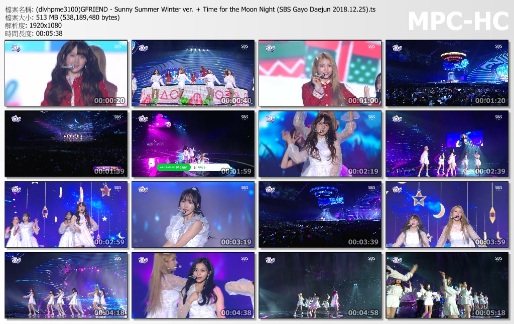 (dlvhpme3100)GFRIEND - Sunny Summer Winter ver. + Time for the Moon Night (SBS G.jpg